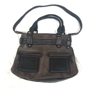 Cole Haan Brown Suede Purse.